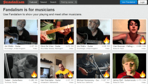 A photo of the home page of Fandalism.com