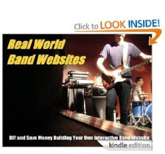 The cover for Real World Band Websites on Amazon