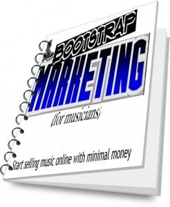 Bootstrap Marketing for musicians cover graphic