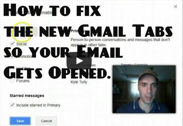 Gmail tabs could hurt your open rate