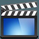 Video training icon depicting a scene marker board